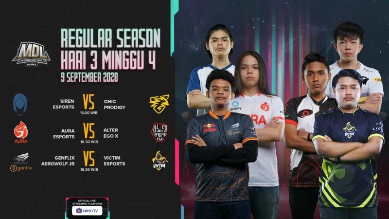 MDL S2 Week 4: Siren Esports Akhiri Win Streak ONIC Prodigy!