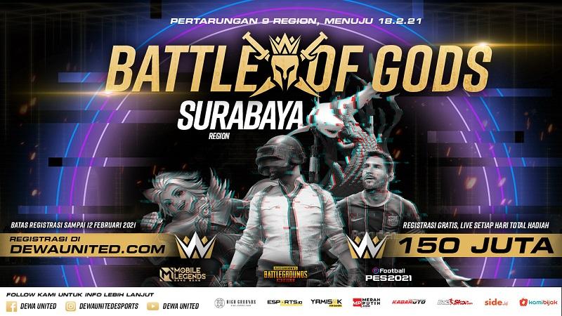 [Battle of Gods]: Kong Esports dan Graviz Antares Wakili Surabaya!