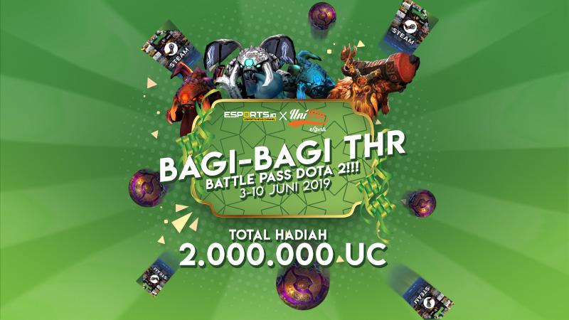 [Giveaway] Esports.ID x UniPin Bagi-bagi THR Battle Pass DOTA 2!