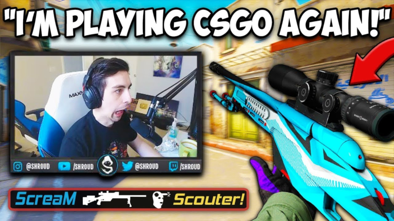 Shroud Main CS:GO Lagi, Kecewa Hanya Rank Double AK