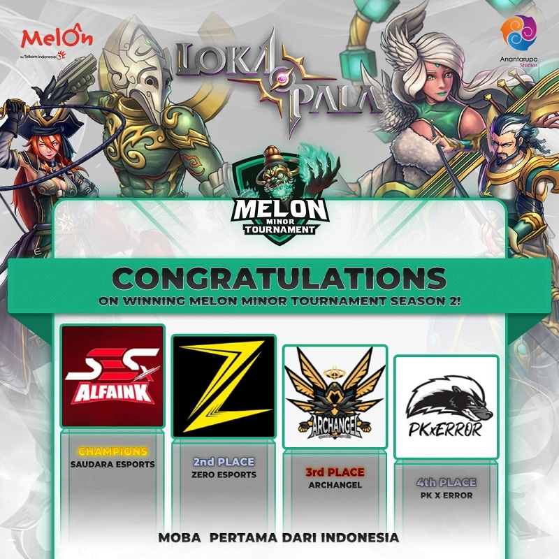 Saudara e-Sports Raih Gelar Melon Minor Tournament Season 2