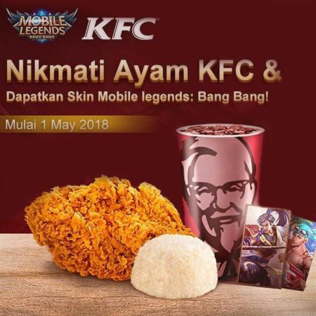 Besok, Kamu Bisa Nikmati Ayam KFC dan Menang Skin Mobile Legends!
