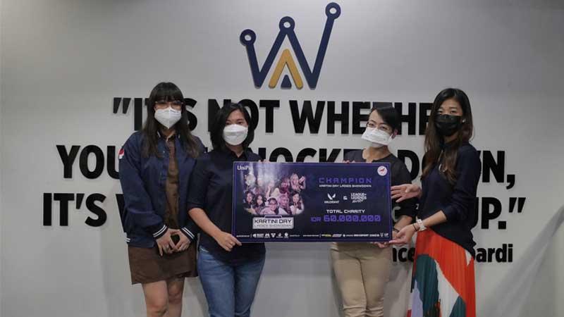 PB ESI dan LSI Apresiasi Donasi Kartini Day Ladies Showdown
