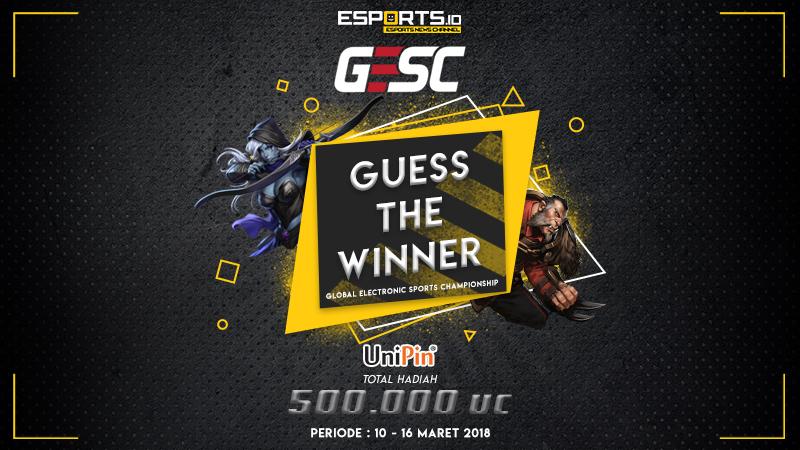 Tebak Juara GESC Indonesia Minor, Dapatkan UniPin Credits!