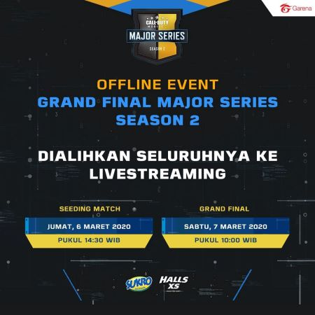 Grand Final CODM Major Series Season 2 Dialihkan ke Online