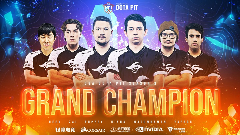 Piala Ke-8 Beruntun Team Secret di OGA Dota PIT Season 3