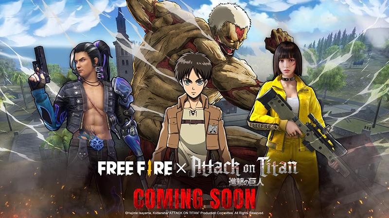 Sah! Kerjasama Free Fire x Attack on Titan Hadir Bulan Maret!