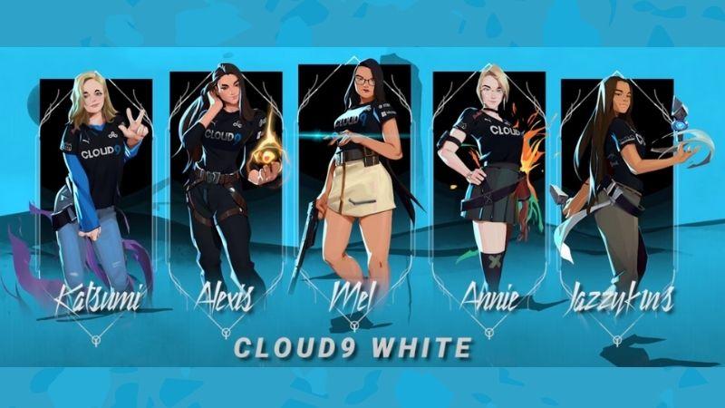 Cloud9 White VALORANT, Tim Esports Wanita Pertama C9!