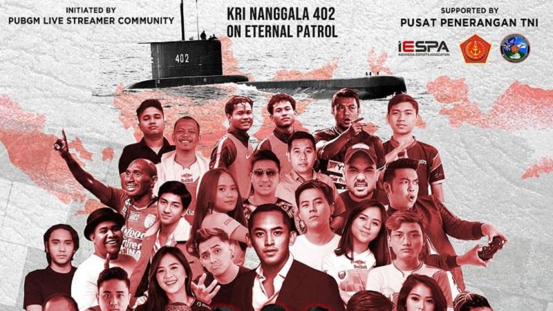 Aksi Gamer PUBGM Sumbang Puluhan Juta Untuk Korban KRI Nanggala 402