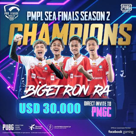 Kampiun PMPL SEA Season 2, Bigetron RA Lengkapi Jajaran Trofi!