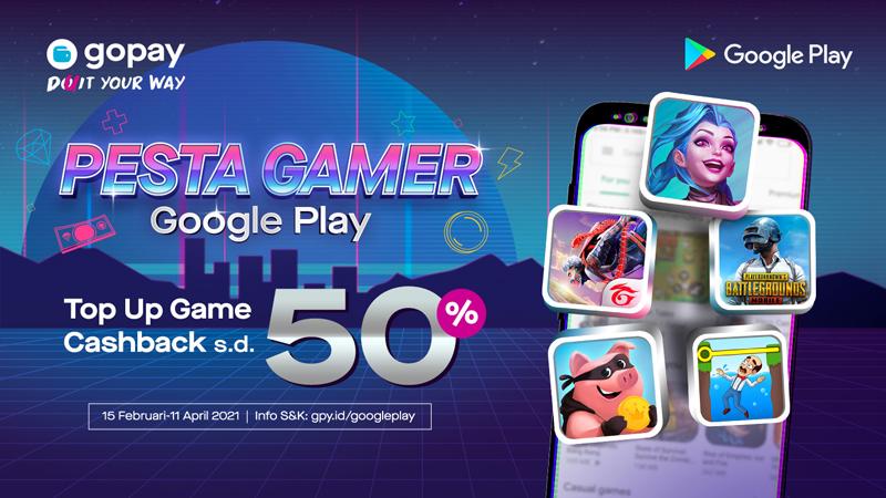 Saatnya Pesta Pora! Promo Pesta Gamer dari GoPay, Cashback Hingga 50%
