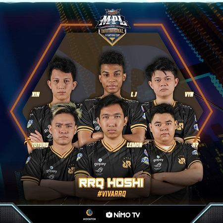 RRQ Hoshi Bantai EVOS Legends di Playoff MPL Invitational