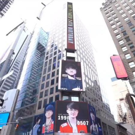 Fans Faker Ucapkan Ulang Tahun Lewat Billboard Times Square