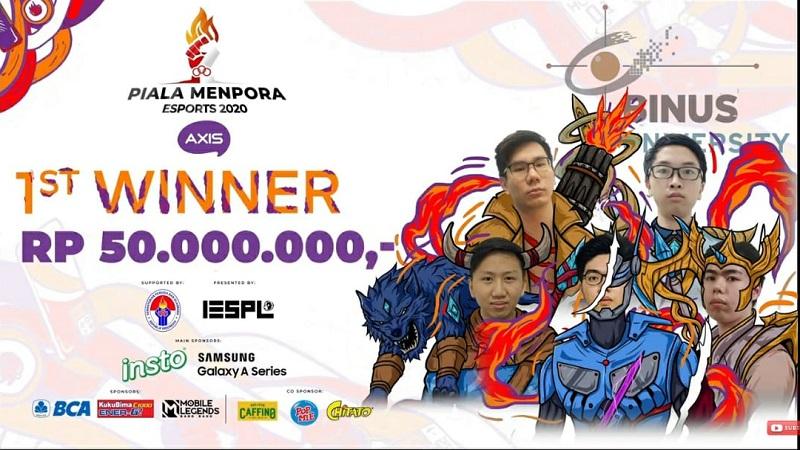 Juara Piala Menpora Esports 2020, Binus Ingin Regenerasi Bakat di Kampus