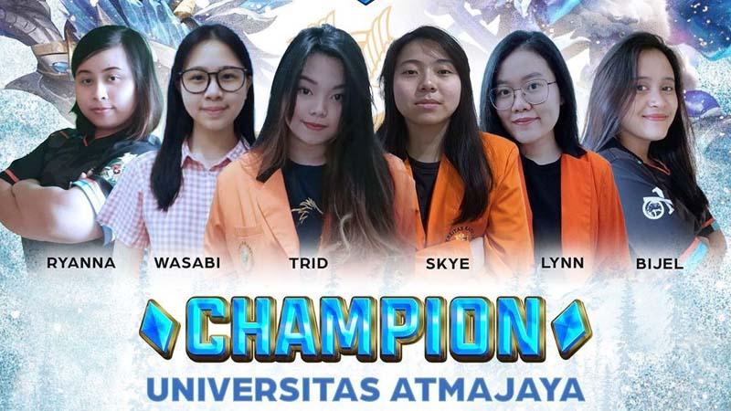 Unika Atmajaya Boyong Gelar USW Ladies Championship