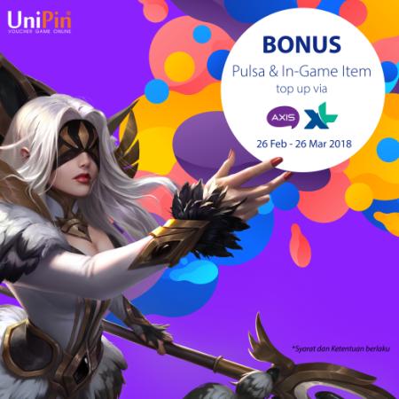 Bonus Pulsa dan Item In-Game Mobile Legends dari UniPin