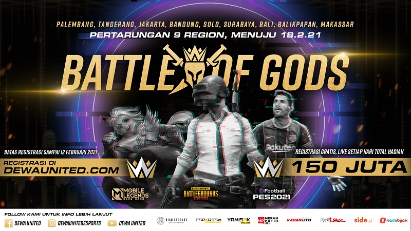 Perkuat Ekosistem Esports Tanah Air, Dewa United Gelar Battle of Gods