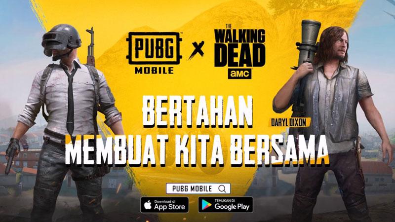 PUBG Mobile x TWD, Skin Keren untuk Hindari Zombi!