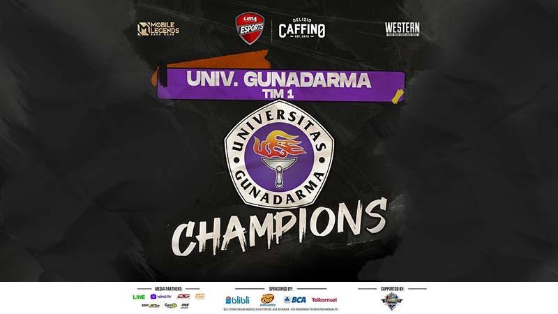 Juara Western Region, Gunadarma Makin Dekat Pertahankan Gelar!