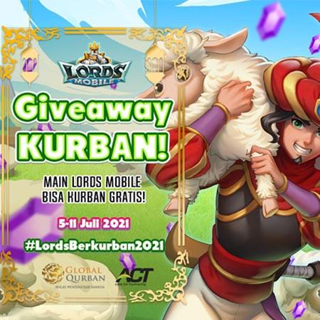 Lords Mobile Giveaway Pahala: Hadiah Kurban Gratis!