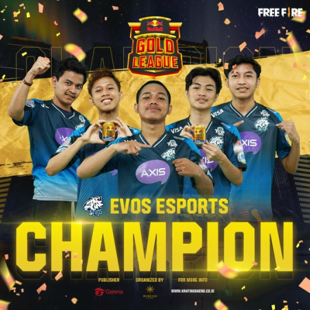 Tampil Memukau, EVOS Esports Juarai Free Fire Red Bull Gold League