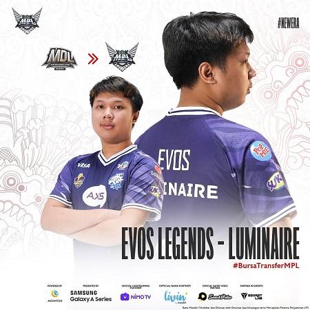Luminaire Resmi ke EVOS Legends, Sudah Bisa Main di Week-4 MPL S8