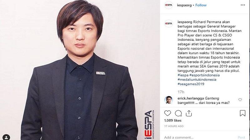 IESPA Tunjuk Richard NXL Jadi Manager Timnas Esports