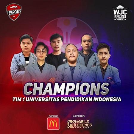 UPI-1 Terbaik di Liga Mahasiswa Esports Jawa Barat!