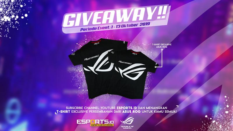 Giveaway EsportsID Berhadiah T-Shirt Exclusive ASUS ROG!