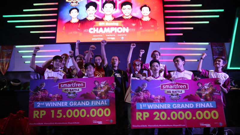 Tampil Dominan, OPi Gaming Juara di Smartfren 4G Battle