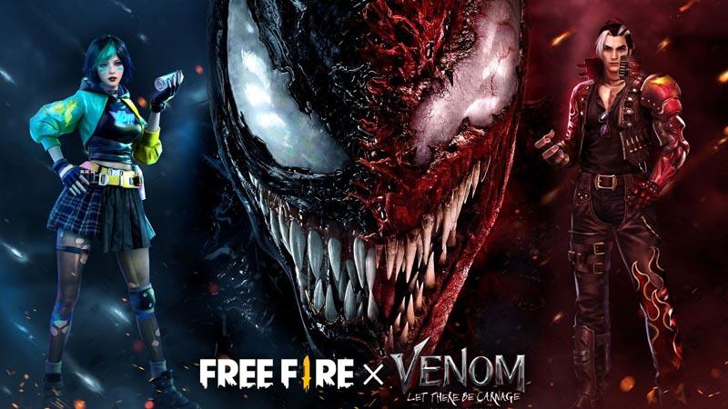 Login Sekarang dan Dapatkan Item Eksklusif Free Fire x Venom!