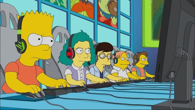 "Aksi The Simpsons Sentil Fenomena Esports di Episode ""E My Sports"""