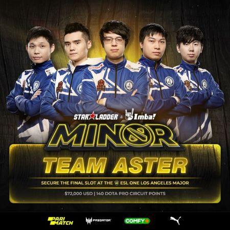 Team Aster Perkasa di StarLadder Minor S3, BOOM Esports Peringkat 4!