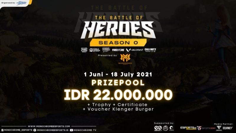 Berhadiah Total 22 Juta, Monochrome Esports Gelar The Battle of Heroes!