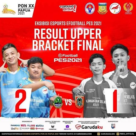 Jawa Barat Amankan Slot Grand Final eFootball PES PON XX Papua