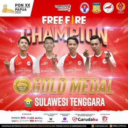 Sulawesi Tenggara Rebut Medali Emas di Ekshibisi Esports PON!