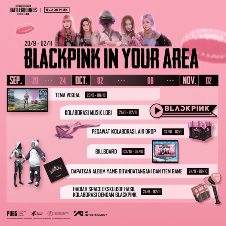 Musik Lobi Hingga 'The Album' Gratis, Detail Event PUBG Mobile Blackpink