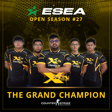 Gasak JYP 2-0, XCN Gaming Rebut Gelar ESEA League #27