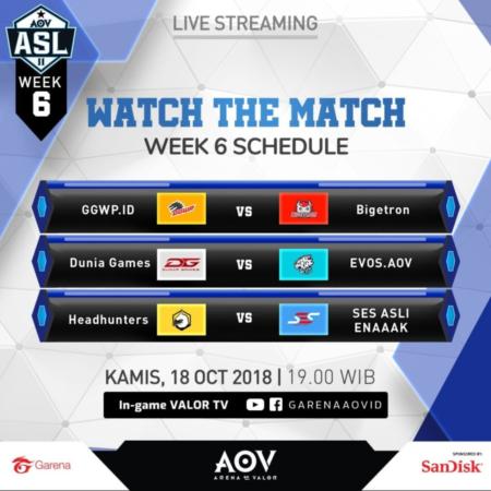 ASL Season 2 Week 6: DG & EVOS Rebutan Slot Kualifikasi AIC