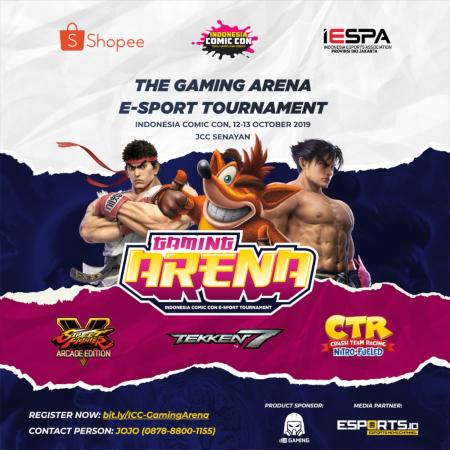 Ragam Turnamen Esports di Gaming Arena ICC 2019