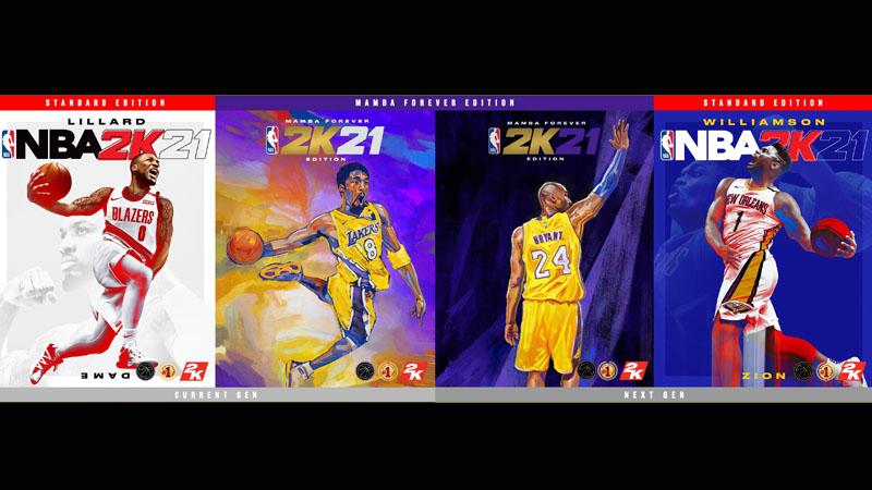 Kobe, Dame dan Zion Akan Hiasi Cover NBA 2K21