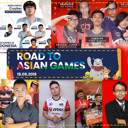 17 Atlet eSports, Satu Bendera Timnas Indonesia di Asian Games 2018!