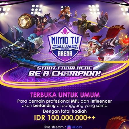Nimo TV Gelar Kompetisi Mobile Legends Berhadiah 100 Juta!