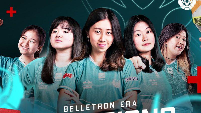 Menang Laga Sengit Kontra EVOS Lynx, Belletron Era Juara Ladies Series 2021