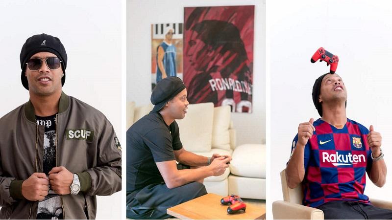 """Ronaldinho Unjuk """"Gocekan"""" Baru Pakai Tim Esports"""