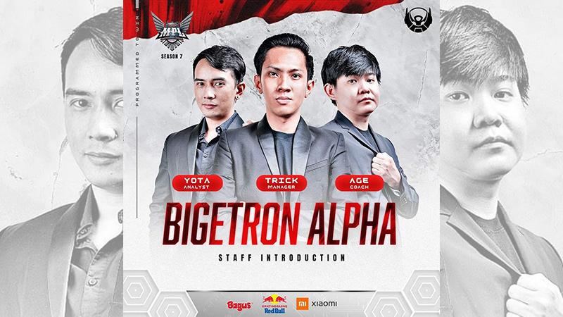 Bigetron Alpha Duetkan Age & Yota Untuk Staf Pelatih di MPL Season 7