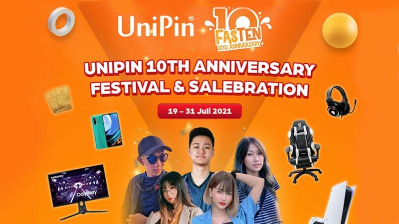 Rayakan Satu Dekade, UniPin Gelar Festival Online di 3 Negara