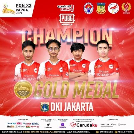 Dramatis, DKI Jakarta Raih Medali Emas PUBG Mobile di PON Papua!