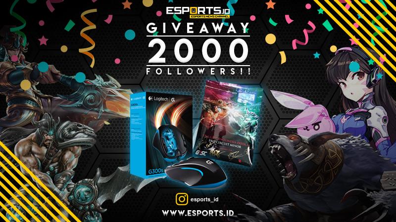 [Giveaway] Rayakan 2.000 Followers, Esports.ID Bagi-Bagi Hadiah Spesial!