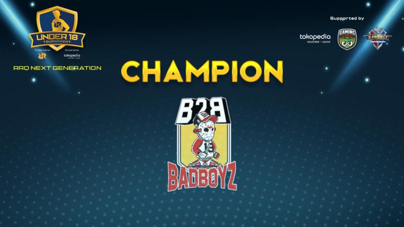 Juarai Turnamen U18, BadBoyz Bertitel Generasi Baru 'Raja'